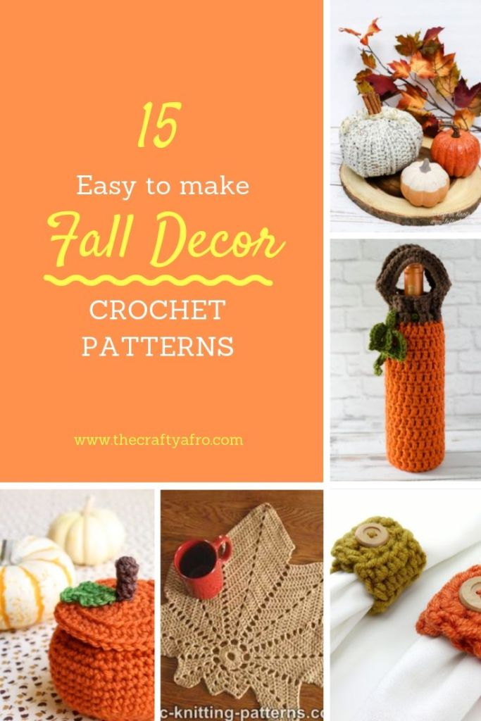 Who says crochet is only for hats and scarves? Check out these 15 beautiful and easy fall home decor crochet patterns.