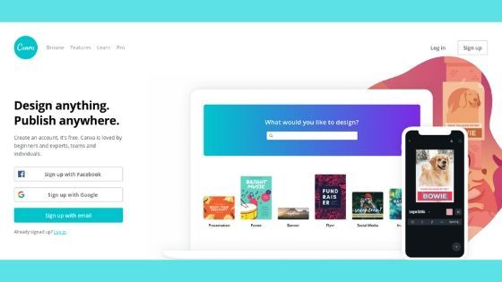 Canva is a free graphic design tool that can be used to make everything from blog post graphics to magazines.