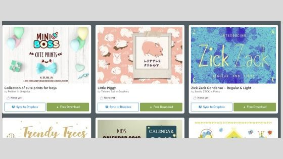 Creative Market is a website that offers free and paid fonts and graphics for personal and commercial use.