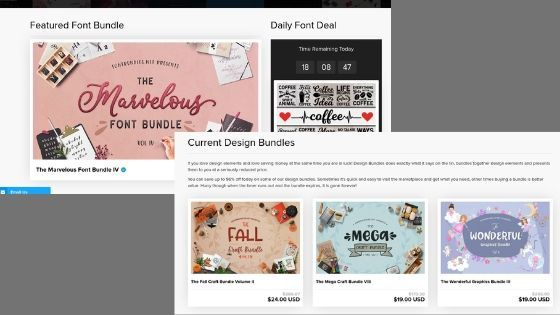 Fontbundles.net offers free and paid graphics for bloggers and business owners to use for personal and commercial use.