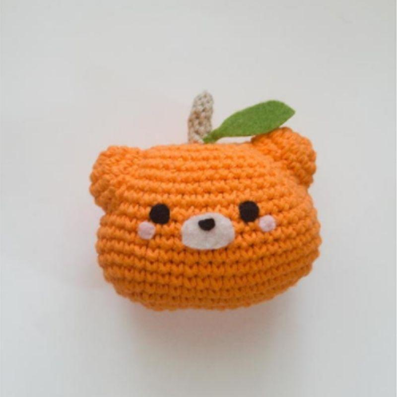 crochet pumpkin patch bear
