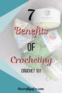 Crocheting isn't just for old ladies. It's a great inexpensive hobby that has many practical and health benefits. #crochet #healthbenefits