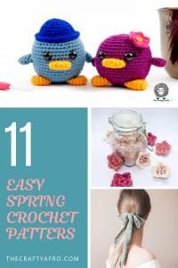 Looking for a few easy spring crochet patterns? Check out these 11 beautiful crochet projects. #crochet #beginner #freecrochetpatterns